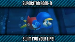 New Super Mario Bros. U 100% - Superstar Road-3: Swim for Your Life!