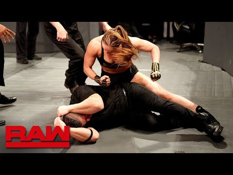 Xxx Mp4 Ronda Rousey Goes Berserk On Security Guards Raw March 18 2019 3gp Sex