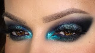Vivid Smoky Blue Party MakeUp Festive Season | Shonagh Scott | Simple | Sponsored