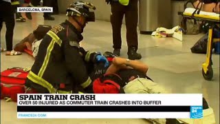 Spain: Over 50 injured in train crash as commuter train smashes into buffer