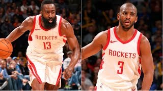 James Harden and Chris Paul Lead The Rockets to Their 16th Straight Victory