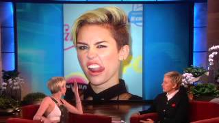 Miley Talks About Nudity and Her Tongue on Ellen show