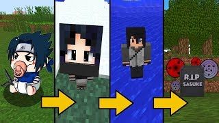 CICLO DE VIDA DO SASUKE UCHIHA NO MINECRAFT !