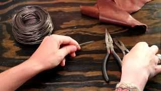 How to Make a Leather and Chain Bracelet - Easy, Simple DIY Jewelry Making Tutorial