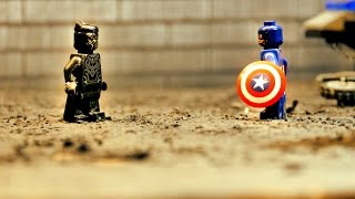 LEGO Civil War: Black Panther vs. Captain America