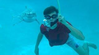 BREATHING UNDERWATER!! (SHARK ATTACK)