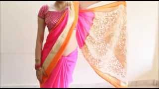 Wear Saree In 2 Minutes Like Bollywood Celeb Hot Diva Style Sari Draping Simple Steps