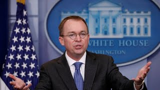 Trump picks Mulvaney as chief of staff – for now