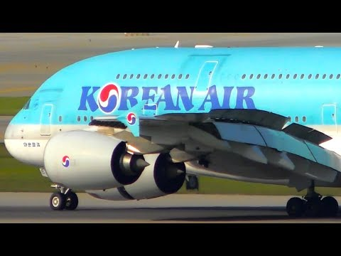 10 HUGE PLANES Landing From VERY CLOSE UP | Seoul Incheon Airport Plane Spotting