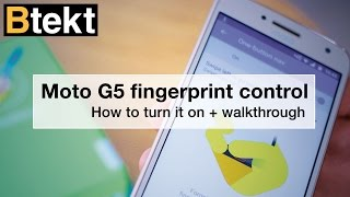 Moto G5 fingerprint navigation walkthrough + how to turn on?