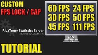How to Lock / Cap your FPS in Games - Custom FPS Lock / Cap Tutorial - FPS Limit