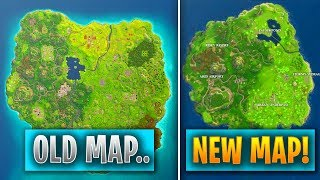 """FORTNITE MAP *REPLACED* WITH ANOTHER!!? - NEW SMALLER MAP made for """"Faster Gameplay"""".. (FORTNITE)"""