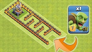 OUT RUN THE WEAPONS!!😀GOBLINS ONLY MAZE!!!😀Clash Of Clans