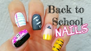 Back to School Nail Art | 5 different designs
