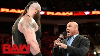 Kurt Angle confronts Braun Strowman: Raw, April 17, 2017