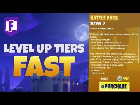 Best Way To Rank Up Tiers Fast Season 3 Battle Pass Fortnite