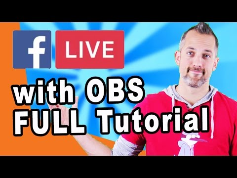 How to Live Stream on Facebook from your Desktop with OBS open broadcaster software owenvideo