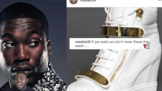 "Meek Mill Disses Nicki Minaj Shoe Game, ""If You Walk Out Dont Wear These Wack Shoes"""