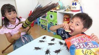 ゴキブリ!!!! ボロボロ落として食べると・・・ おままごと こうくんねみちゃん Crushed Cockroach / Family Fun for Kids