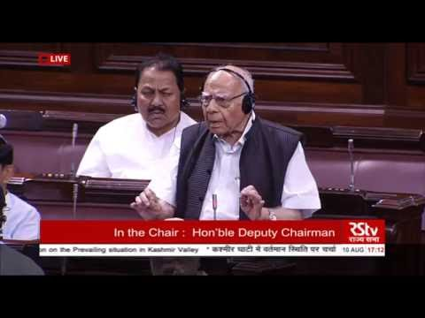Sh. Ram Jethmalani's comments on the prevailing situation in Kashmir valley