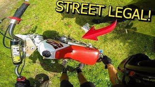 RIDING STREET LEGAL 50cc PIT BIKE!!