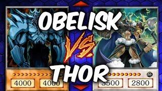 Yugioh OBELISK vs THOR (Yu-gi-oh God Card Deck Duel!)