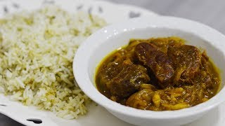 طرز تهیه خوراک ماهیچه مشهدی | یک چلوگوشت و چلوخورشت بسیار لذیذ