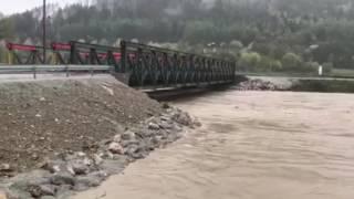 Uzatvorenie mosta vo Vraní - 28. apríl 2017