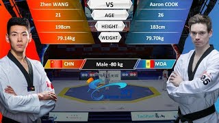 M-80kg | Aaron COOK(MDA )VS Zhen WANG(CHN) | 2017-2018 Season WT Grand Slam Finals