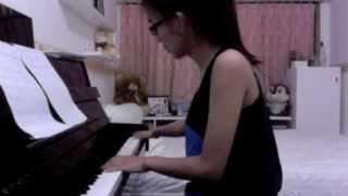 perahu kertas piano cover by pamela sisca (maudy ayunda)