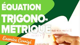 Équation Trigonométrique 1ere S - Mathrix