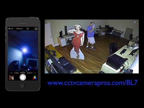 CCTV Security Camera with Motion Sensor Light
