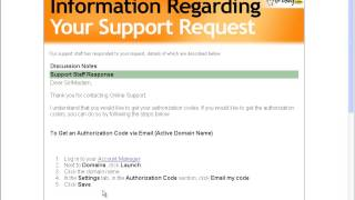How to Get an Authorization Code of  a Domain via Email at Godaddy.com