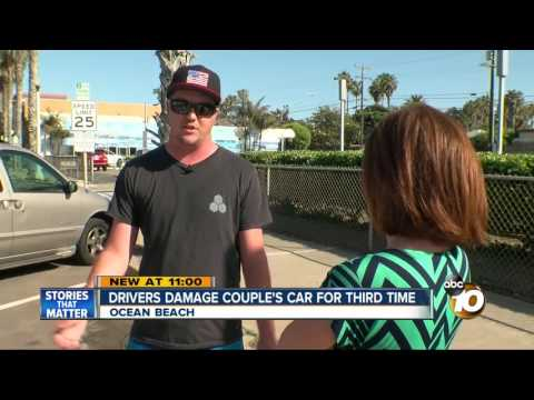 Drivers damage couple's car for third time