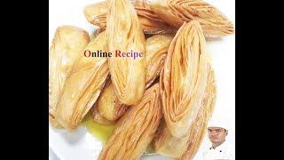 KHAJA  RECIPE AND SWEET গ্রাম বাংলার মজাদার  সুইট খাজা  তৈরির সহজ রেসিপি