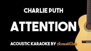 charlie puth - attention acoustic guitar karaoke backing track lyrics on screen