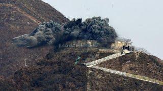 شاهد: كوريا الجنوبية تدمر نقطة مراقبة عسكرية تطل على كوريا الشمالية…
