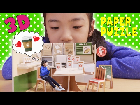 Only 100 yen and so cute 3D paper puzzle.