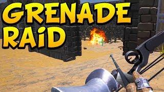 GRENADE RAID! - NO SURRENDER - Ark Survival Evolved Island No Fliers PVP #16