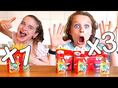 I ATE 3x MY SISTER S DIET FOR A DAY Challenge w The Norris Nuts