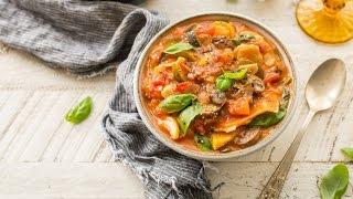 Slow Cooker Vegetarian Lasagna Soup (DF, GF)