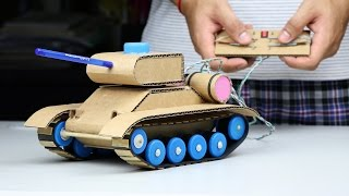 Wow! Amazing RC Tank DIY at Home - Mini Gear RC Tank