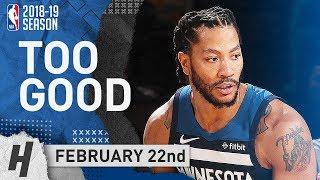 Derrick Rose NASTY Full Highlights Wolves vs Knicks 2019.02.22 - 20 Points at MSG!