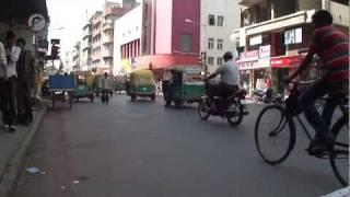 Daytime street scene on Relief Road, Ahmedabad, Gujarat, India - February 2011