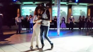 Ba Afrokizomba & Odeta. Kizomba impro after stage in Emilia-Romagnia, Italy.