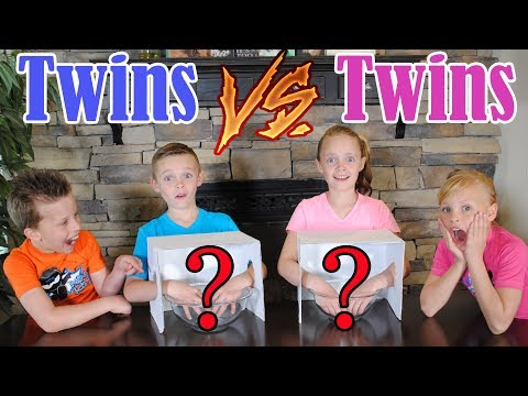 Twin Boys vs Twin Girls WHAT S IN THE BOX CHALLENGE Ninja Kidz TV and Kids Fun TV Together