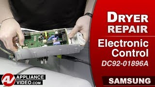 Samsung Dryer - Electronic Control issues - Diagnostic & Repair