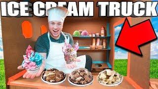 BOX FORT ICE CREAM TRUCK CHALLENGE 📦🍦DIY Ice Cream Truck, Candy & More!
