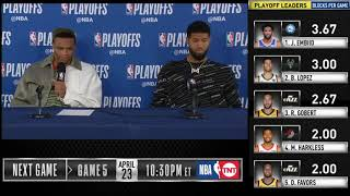 Russell Westbrook & Paul George postgame reaction | Thunder vs Blazers Game 4 | 2019 NBA Playoffs