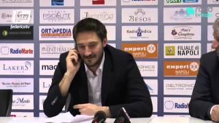 Pozzecco show in conferenza stampa al termine di Expert Napoli-Upea Capo d'Orlando